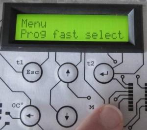 Menu Prog fast select