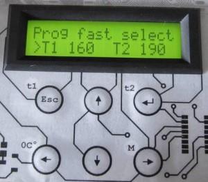 Inside of Menu Prog fast select