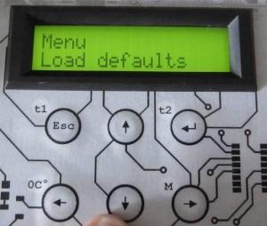 Menu Load defaults
