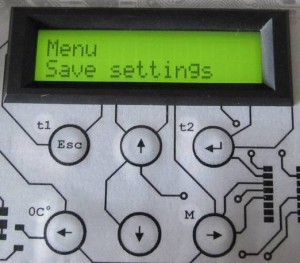 Menu save settings